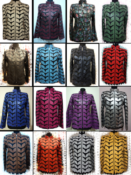 Other Available Colours of Plus Size Leather Leaf Jackets [ Design 05 ]